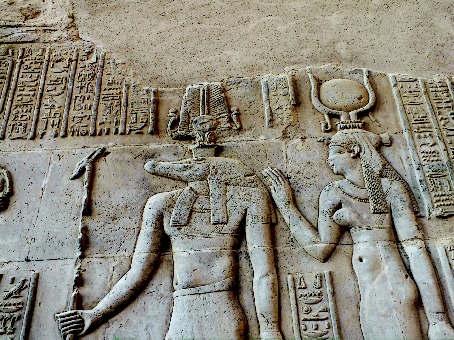 27 komombo bas reliefs et hieroglyphes page 2. Black Bedroom Furniture Sets. Home Design Ideas